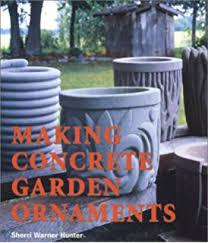 creative concrete ornaments for the garden pots planters