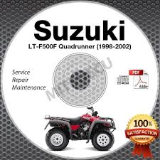 1998 2002 suzuki lt f500f quadrunner 500 service manual cd atv
