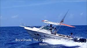 Sailboat Awning Sunshade Bocashade Retractable Boat Awning Youtube