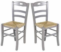 lot de 2 chaises de cuisine en gris perle