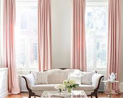 Blush Pink Curtains Blush Pink Curtain Etsy