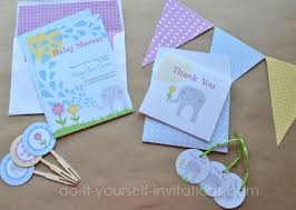 baby shower kits printable elephant baby shower invitations templates