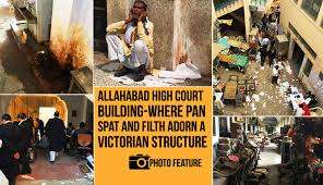 Allahabad High Court Lucknow Bench Judges Allahabad High Court Building Where Pan Spat And Filth Adorn A