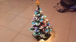 Vintage Atlantic Mold Ceramic Christmas Tree by Vintage Lighted Christmas Tree With Plastic Reflectors What U0027s It