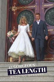 42 gorgeous tea length wedding dresses