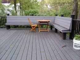 Trex Benches Composite Deck With Composite Rails And With Built In Bench Yelp