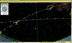 Sky Maps Melbourne Sky Chart Showing Evening Line Up Of All 5 Eye Planets