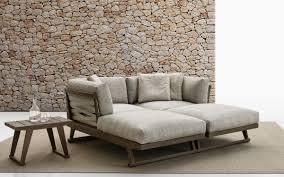 contemporary daybed fabric teak garden gio b u0026b italia