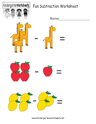 Math Worksheets Kindergarten Pleasant Subtraction Worksheets For Kindergarten Wallpapercraft