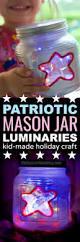 red white u0026 blue star mason jar lights 4th of july kids craft