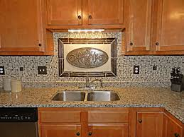 modern backsplash kitchen ideas murano tile high arch faucet sink