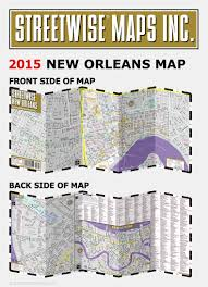 Map New Orleans by Streetwise New Orleans Map Laminated City Center Street Map Of