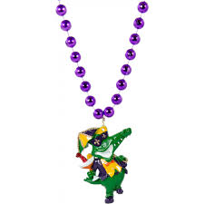 mardi gras alligator second line mardi gras gator bead necklace pst1856 1233