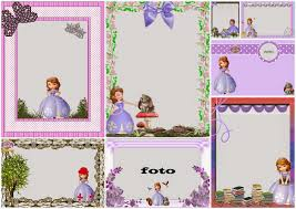 sofia the first free printable invitations or photo frames is