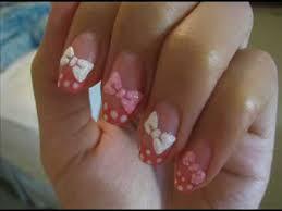 ribbons u0026 polka dot nail art tutorial youtube