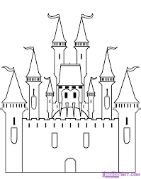 coloring page how to draw castles coloring page how to draw