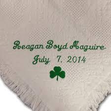Baptism Blanket Personalized Embroidered Irish Blessings For Baby Baptism Personalized Irish