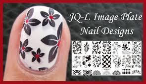 jq l flower image plate stamping nail art design tutorial for