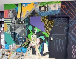 bokra mural for rio hair beauty with video the mural was completed using solely spray paint with the aid of tape and cardboard for certain areas which needed masking as you can see the colour wheel