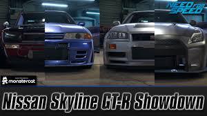 nissan gtr r34 skyline need for speed 2015 nissan skyline gt r showdown kpgc10 vs r32