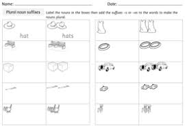 spag year 1 plural noun suffixes powerpoint and worksheet by