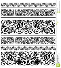 floral ornament elements and embellishments royalty free stock