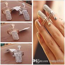 exquisite finger ring opening rings design rhinestone plum