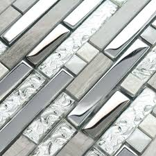 Mirrored Wall Tiles Wholesale Mosaic Tiles Mirror Silver Metal Pattern Wall Tile