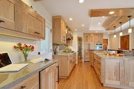 red birch cabinets kitchen traditional with wood truss bar tool
