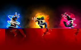 download 3d google neon glow wallpaper for desktop mobile free