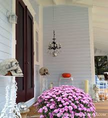 Decorating A Chandelier Our Victorian Front Porch Decorated For Halloween Diy Chandelier