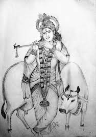 pictures pencil drawing krishna drawing art gallery