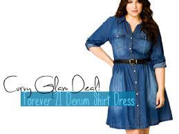 curvy glam deal forever 21 denim shirt dress inher glam