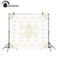 wedding backdrop name allenjoy photography background gold frame wedding backdrop name