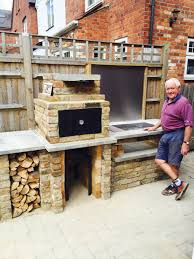 backyard brick bbq u0026 smoker uk style bbq area pinterest