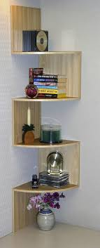 Ideas For Maple Bookcase Design Corner Spacesaver Bookcase Curved Shelves Add Interest Maybe In