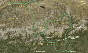 Himilayas Map About Himalayan Ecotourism