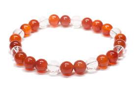 red crystal bracelet images Red agate and quartz crystal bracelet wellness decor jpg