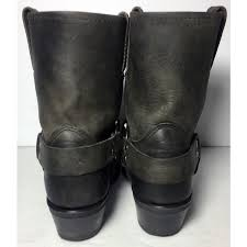 womens boots size 11 1 2 frye 77455 harness 8 r black leather pull on motorcycle boots