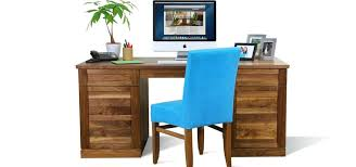 writing desk with drawers solid wood console writing desk with square dining table edge