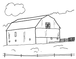 barn coloring pages bestofcoloring com