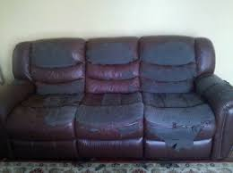 Recovering Leather Sofa How To Reupholster A Faux Leather Sofa Conceptstructuresllc