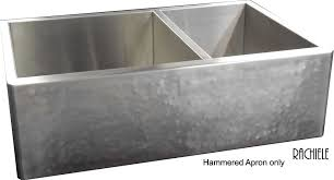 Stainless Steel Farmhouse Apron Front Workstation Sinks - Hammered kitchen sink