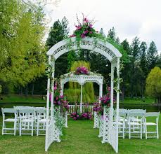 wedding arbor used decorating wedding arches columns arches gazebos pipe and