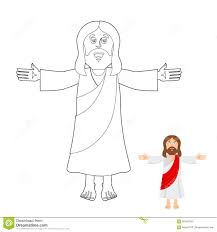 coloring jesus jesus coloring book jesus christ drawing for children linear b