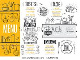 cafe menu food placemat brochure restaurant stock vector 522094183