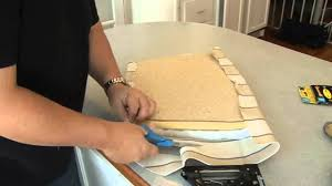 How To Make Seat Cushions For Dining Room Chairs Recovering A Seat Cushion On A Chair
