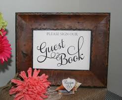 Wedding Table Signs Please Sign Our Guest Book Wedding Sign Guestbook Table Sign