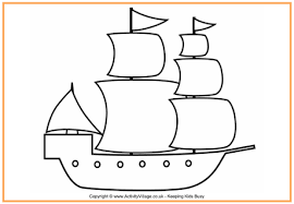 pilgrim ship colouring page thanksgiving colouring pages for