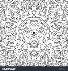 symmetry coloring pages uncolored symmetric tracery colouring can be stock vector